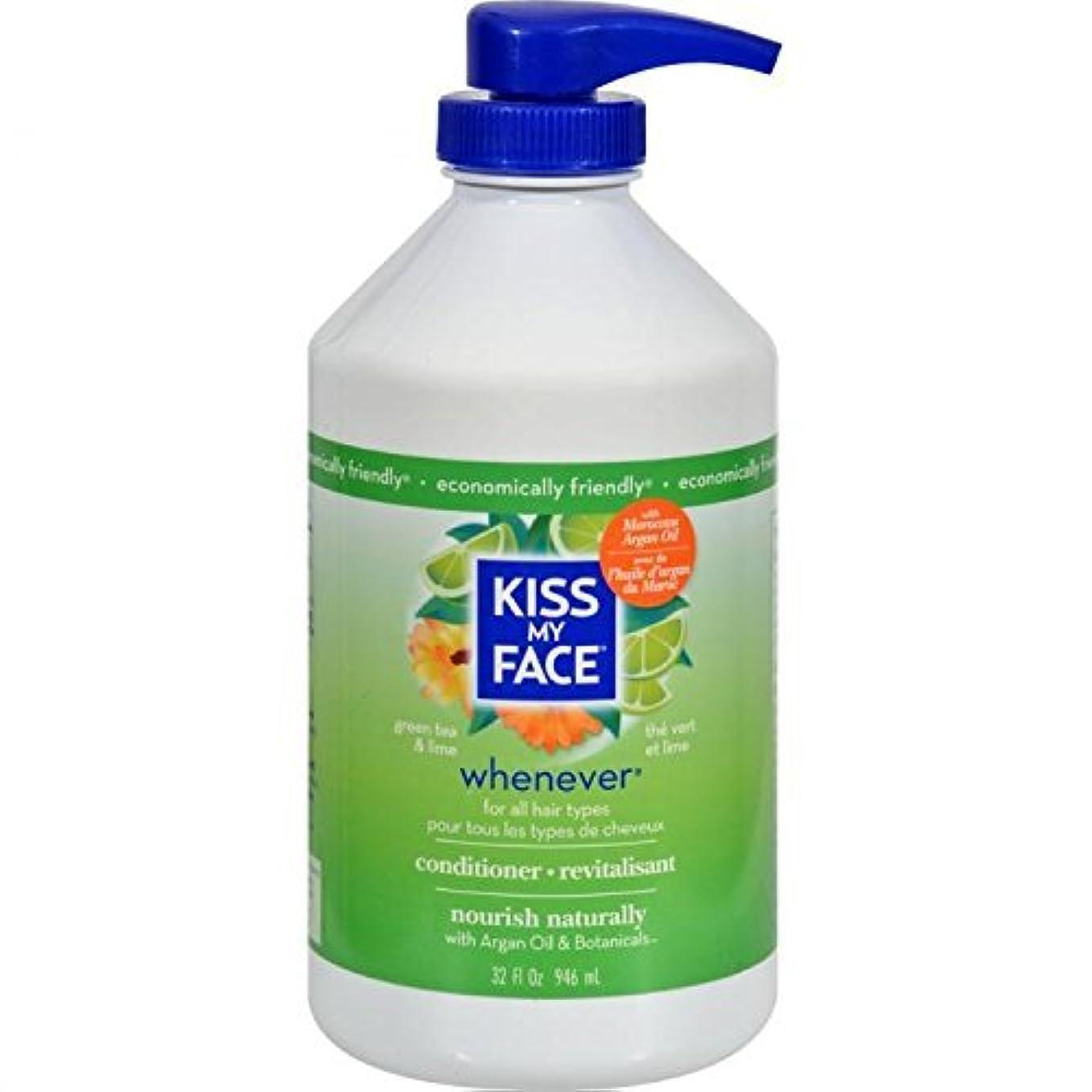 明らかににじみ出る面Whenever Conditioner Green Tea and Lime - 32 fl oz by Kiss My Face