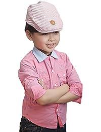 (ビグッド) Bigood 帽子 キッズ ベビー ベレー帽 子供 キャップ 女の子 キャスケット 赤ちゃん ハンチング 男の子 紳士 日よけ 春 夏 ストライプ