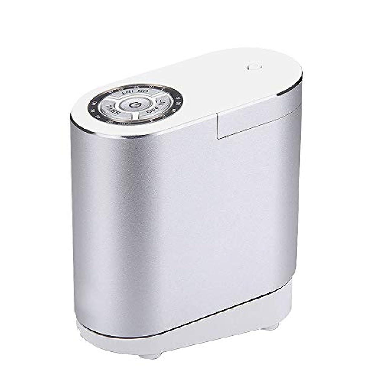 遺跡スタウト白い精油の拡散器、総本店の寝室部屋のための携帯用超音波拡散器の涼しい霧の加湿器,silver30ML