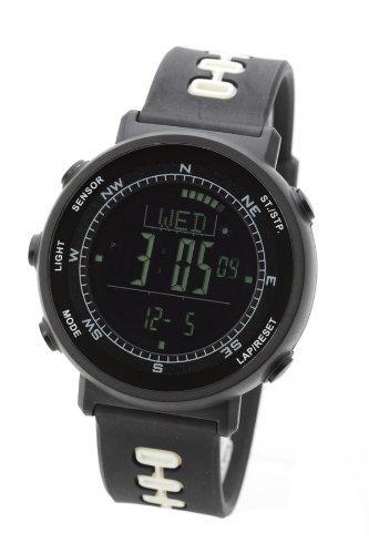 [LAD WEATHER]腕時計 スイス製センサー アウトドア時計 登山/ハイキング/ジョギング/マラソン/ダイエット/ウォーキング/スポーツに メンズ/レディース