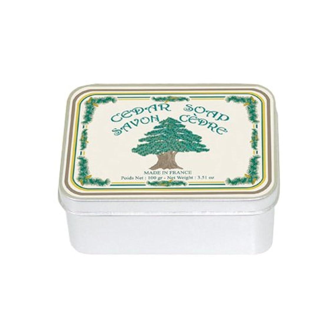 階負郊外ルブランソープ メタルボックス(シダーウッドの香り)石鹸