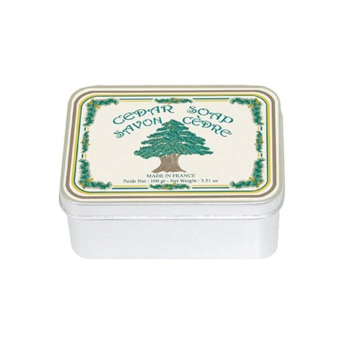 でるアンソロジー分解するルブランソープ メタルボックス(シダーウッドの香り)石鹸