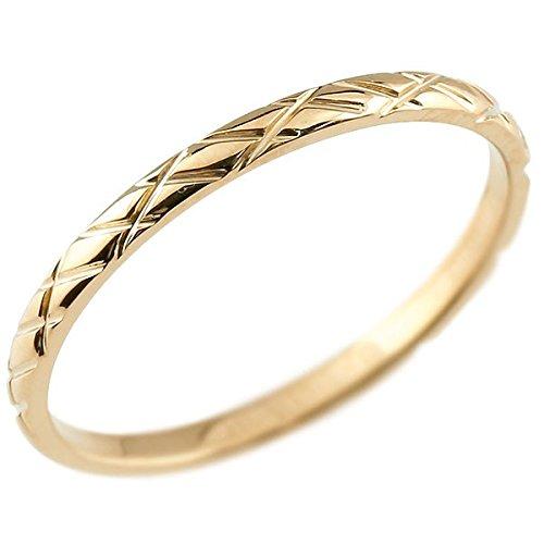 [アトラス] Atrus リング ピンキーリング ピンクゴールド 18金 指輪 ハンドメイド ストレート アンティーク 地金 まるで着けていない様な着け心地 極細 リング 華奢 ファッションリング 15号