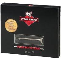 ステーキチャンプ肉温度計、シルバー、ミディアム