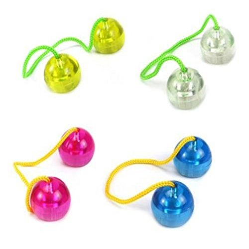 DADANGSH カラフルなライトアップLED指アンチストレスボールライトフィジェットヨーヨーガジェットスピナーコントロールロールのおもちゃ LEDライト (Color : Yellow)