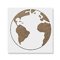 """Earthステンシルテンプレート–再利用可能なステンシルwith複数サイズあり 35""""x35"""""""