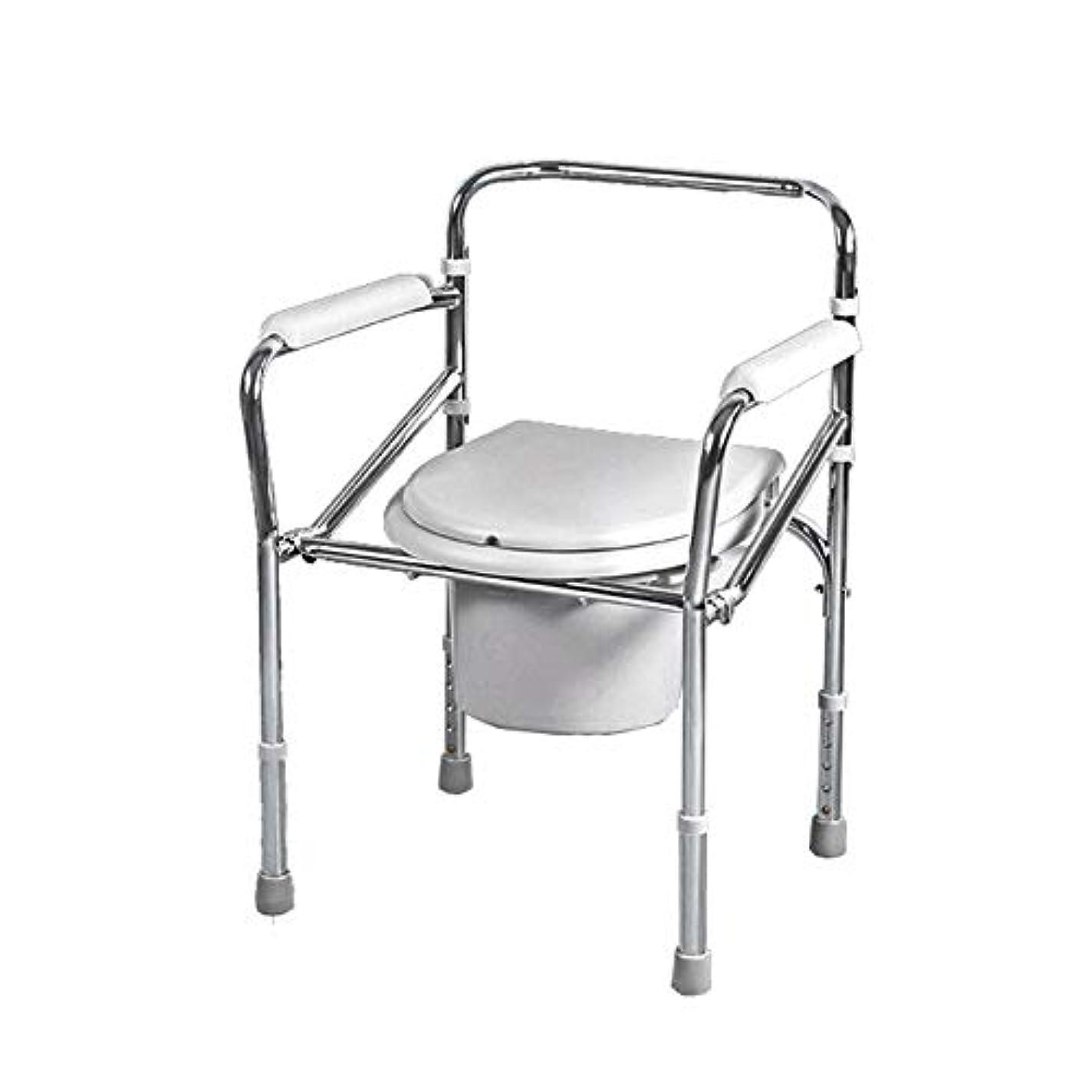 密列挙する歩く携帯用浴室の椅子の折りたたみ便器の椅子の高齢者のための軽量の丈夫で簡単な浴室の取り外し可能な部分
