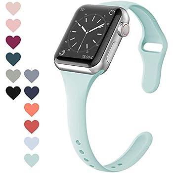 FRESHCLOUD コンパチブル Apple Watch バンド 38mm 40mm アップルウォッチ バンドスポーツバンド 交換ベルト 柔らかいシリコン素材 apple watch series 5 4 3 2 1対応 耐衝撃 防汗 (ライトグリーン)
