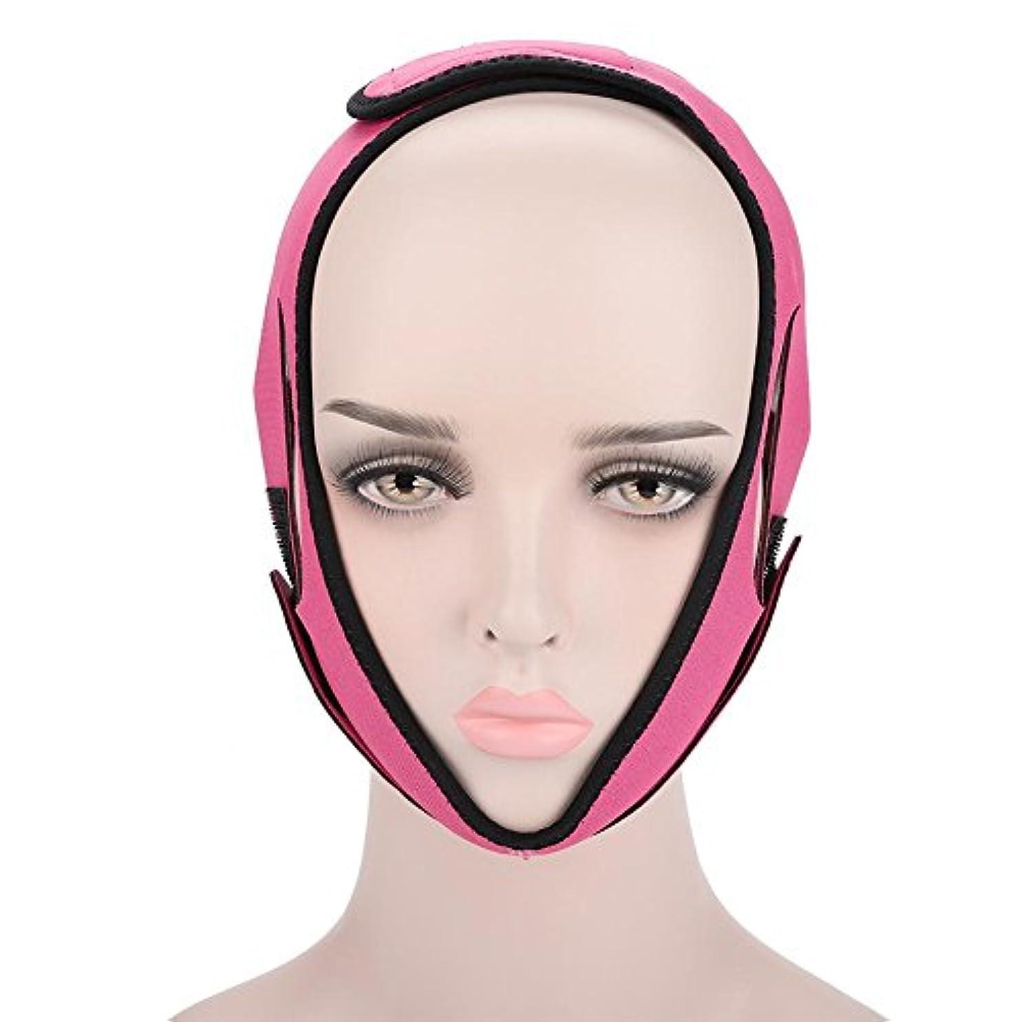 最少多様性カバレッジフェイススリミング包帯 顔の包帯フェイシャルスリミングマスクフェイシャルケアのためのフェイシャルベルト薄い首のフェイスリフトダブルチン女性のための(3#)