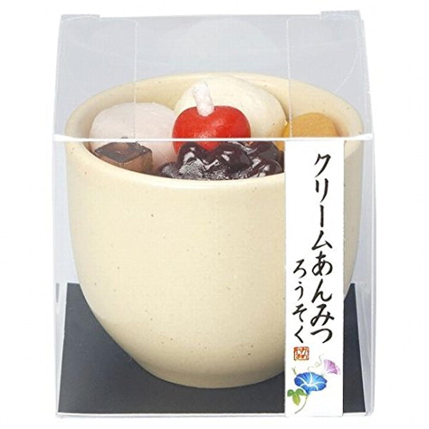 甘くするオリエンテーション雪だるまカメヤマキャンドル( kameyama candle ) クリームあんみつキャンドル