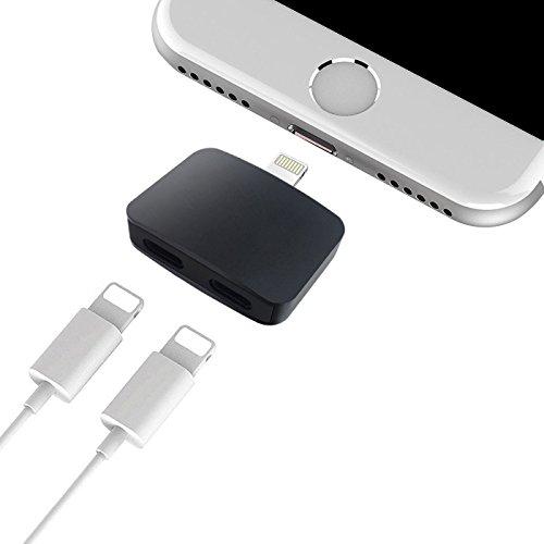 NYUTASE 最新版 for iPhone X / iPhone 8 / iPhone 8 Plus / iPhone7 Plus /  iPhone7 イヤホン 充電 同時 iOS11も対応 通話でき iPhone ライトニング イヤホン 変換
