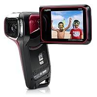 Sanyo Xacti VPC-CA9 GX High-Definition 720p Waterproof Camcorder, 9 MP, 5x Optical Zoom Dual Camera (Red) by Sanyo