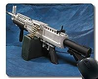 ゲーミングマウスパッドカスタム、ステッチエッジを持つ武器重機関銃マウスパッド
