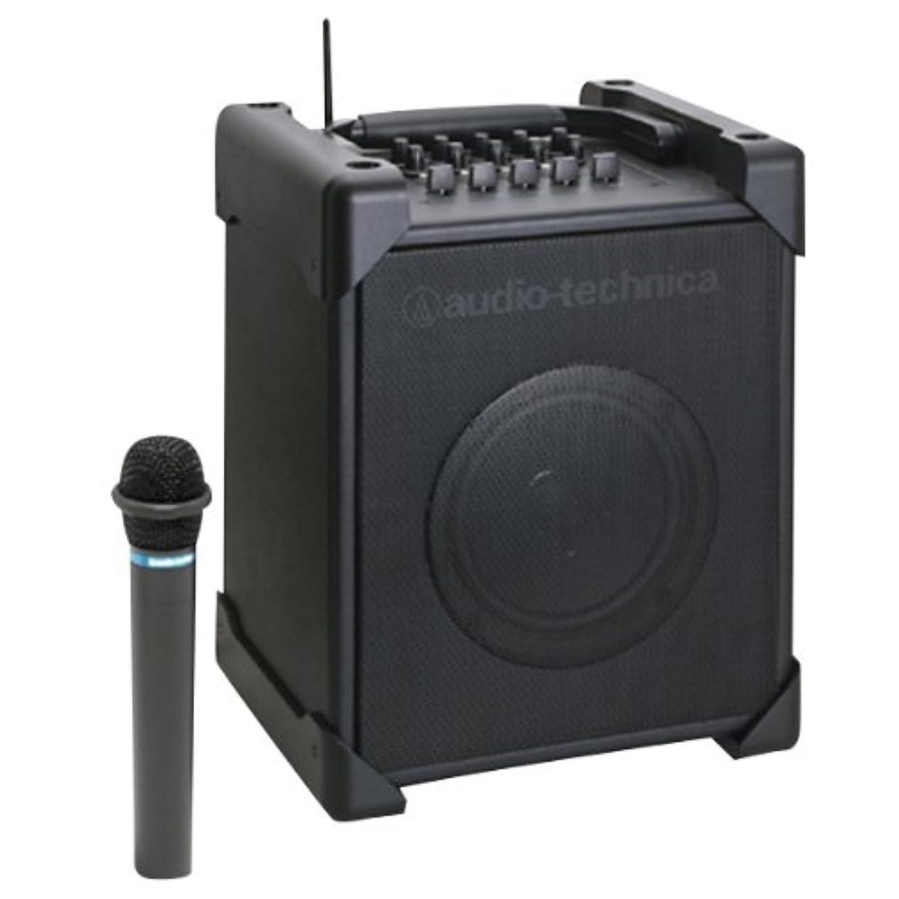眩惑するボーカル認証audio-technica UHFワイヤレスアンプシステム マイク付属 ATW-SP717M