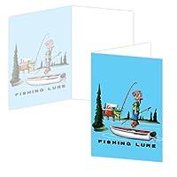 ECOeverywhere Bubba魚ボックス版カードセット、12カードと封筒、4x 6-inches、マルチカラー( bc11059)