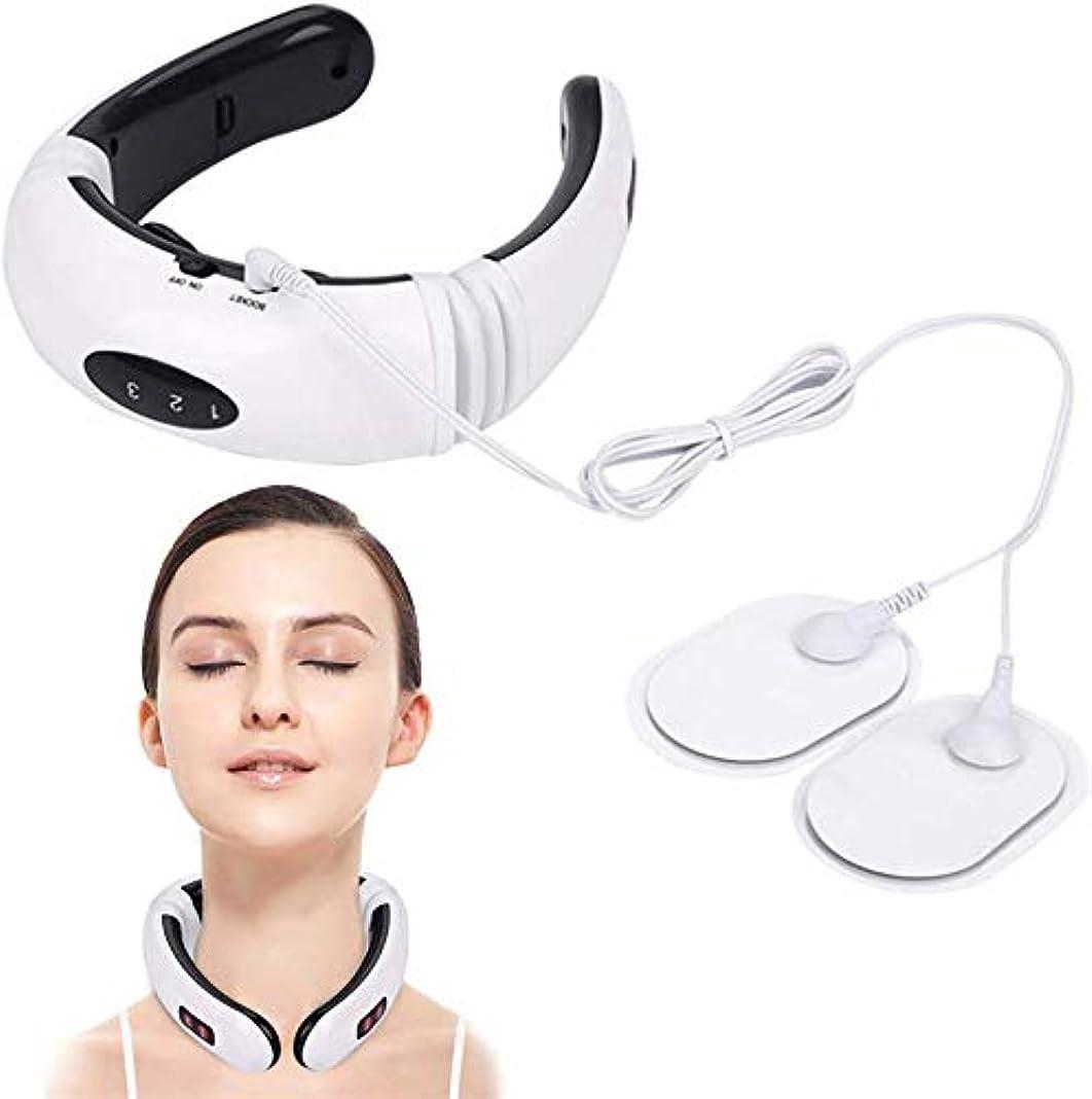 商人換気類似性スマートネックマッサージャー、電気パルスネックマッサージャー遠赤外線加熱疼痛緩和ツール、ホームオフィス用
