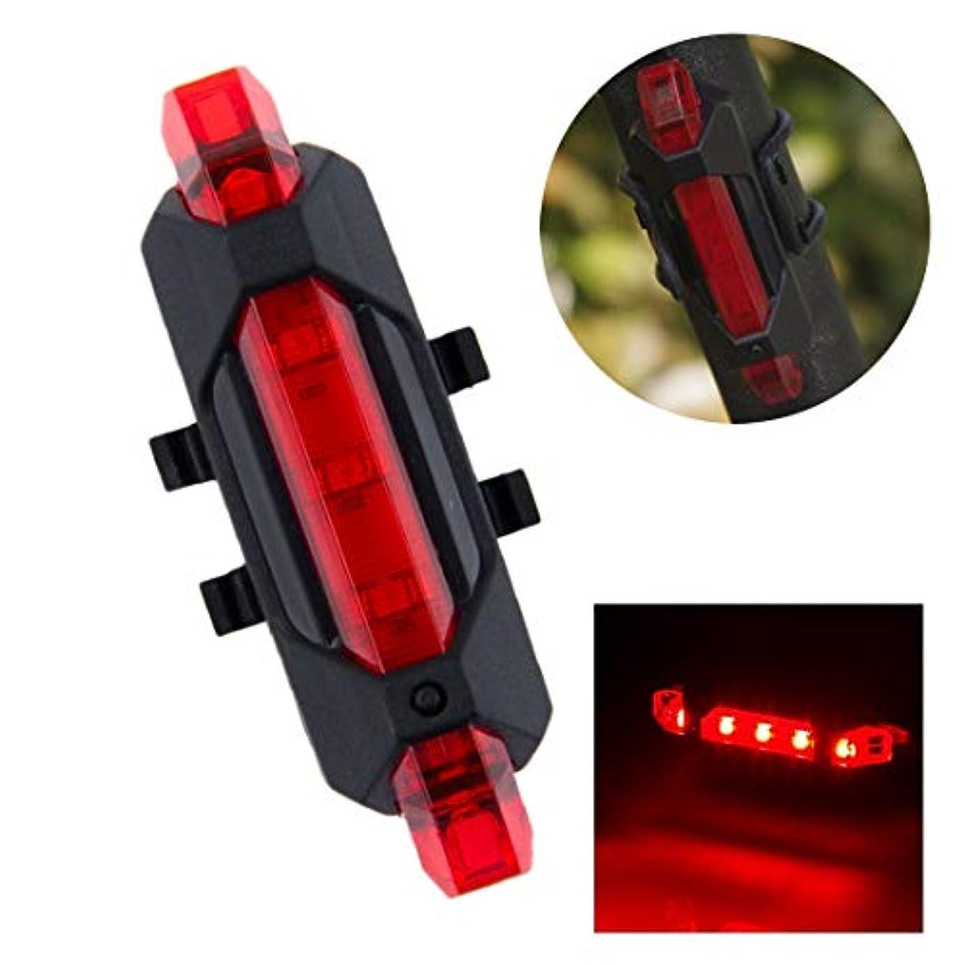 ガイドラインモニカセージUSB充電式LED自転車テールライト (色 : 赤)