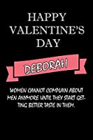happy valentine's day  Deborah Quote: composition notebook :valentine's day gift for an happy valentine day gratitude your lover