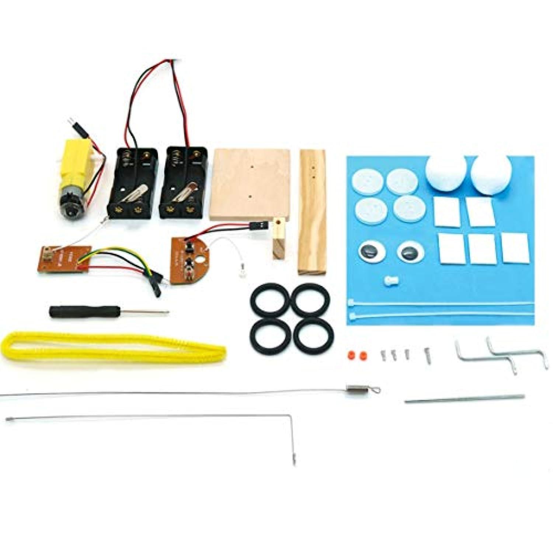 リモコン爬虫類クローラロボットDIY組み立てモデル科学実験発明発明クリエイティブ教育玩具子供のための - 多色-1サイズ