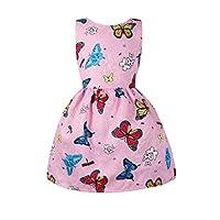 ベビー服 緩いバージョン 女の子 蝶 プリント プリンセススカート ノースリーブ クール 可愛い 快適な 元気いっぱい 柔らかい タンクスカート[ポクトロン]