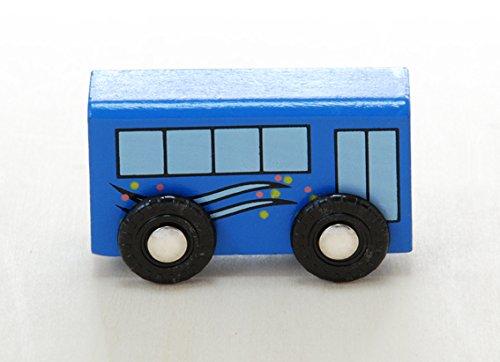 木のおもちゃ・乗り物セット (木製レール)