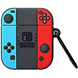 TeknooShop for AirPods Case Soft Silicone Shockproof Cover for Apple Airpods 1/2 NintendoSwitch, Green Avocado 3D Cartoon Uni