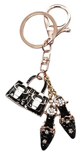 [해외]가방 참 열쇠 고리 모조 다이아몬드 선물 선물 행운 힐 구두 가방 가방 BAG j127/Bag Charm Key Ring Stone Present Gift Fortune Heel Shoes Bag bag BAG j127
