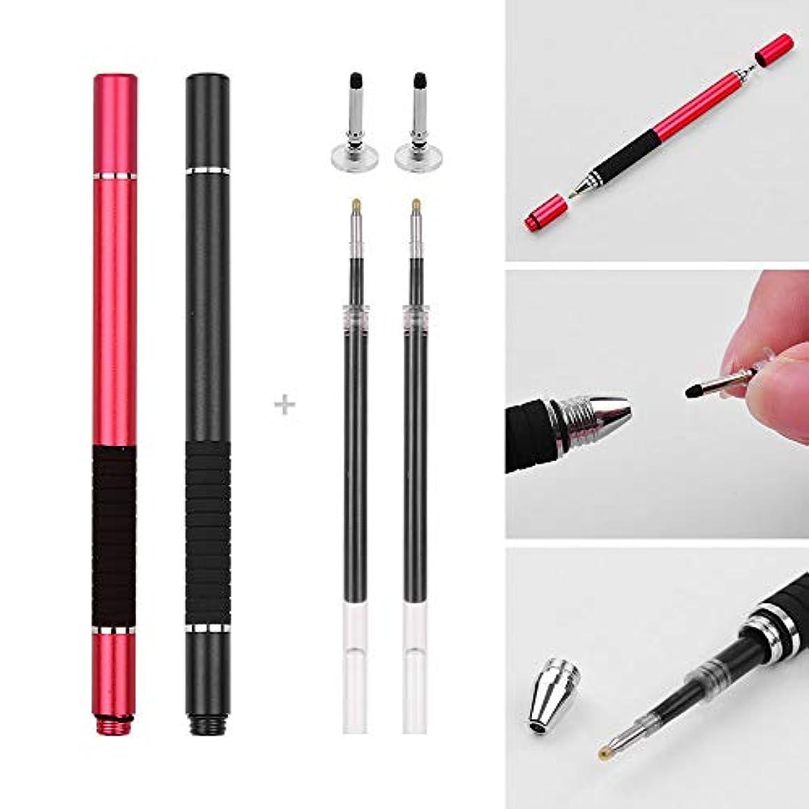 ペナルティ履歴書気まぐれなAibecy 2in1の精密スタイラスペン、2inchの黒/赤の携帯電話のタブレットパック用の容量性のタッチスクリーンスタイラスペン