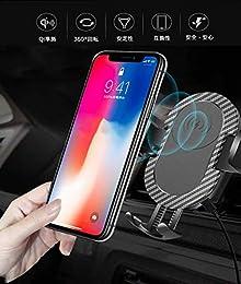 車載ホルダー Qi ワイヤレス充電 スマホホルダー 360度回転 伸縮アーム 粘着ゲル吸盤&吹き出し口2種類取り付 iPhone X/XR/XS/XSMAX/8/8 Plus/Galaxy S9/S8/S8 Plus/S7/S7 Edge/S6/S6 Edge/Note 8/Note 5/Nexus 5/6などあらゆる機種に対応