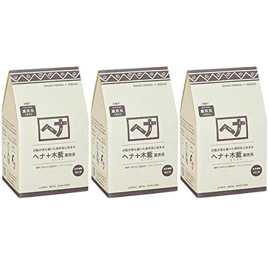トランスミッションエンターテインメント地球ナイアード ヘナ + 木藍 黒茶系 白髪が落ち着いた黒茶系に染まる 400g 3個セット