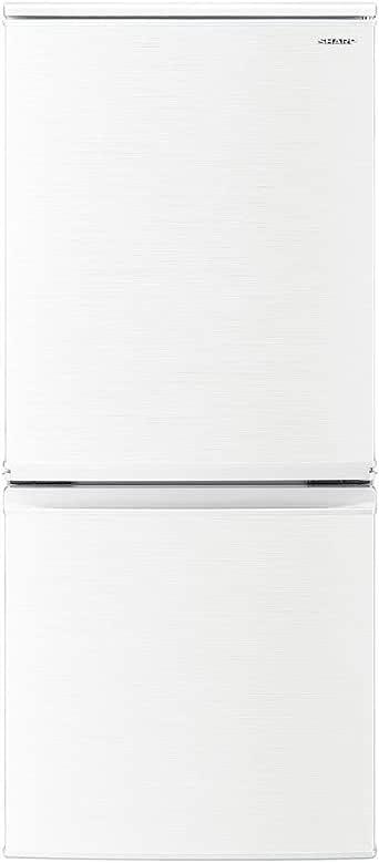 シャープ SHARP 冷蔵庫(幅48.0cm) 137L つけかえどっちもドア 2ドア ホワイト系 SJ-D14E-W