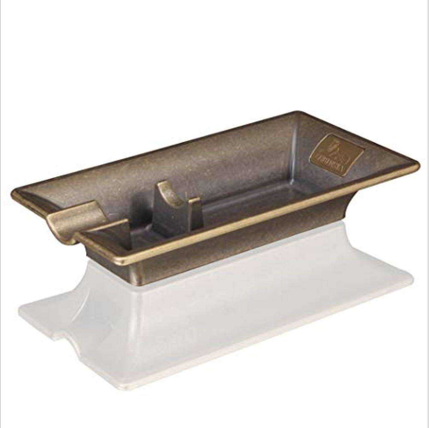 二コンプリート危険にさらされているシガー灰皿高級金属たばこ葉巻灰皿ヴィンテージ旅行灰皿葉巻,Brass