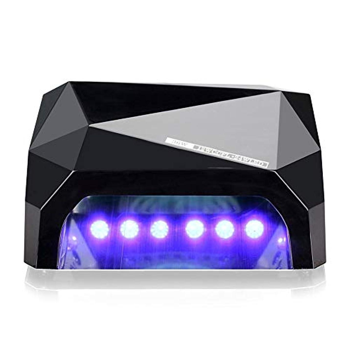 取り消すクラック全滅させる36W LED UVネイルランプネイルライトドライヤー用硬化ジェルネイルポリッシュ用ネイルアートマニキュアツール3タイムプレセット(10秒30秒60秒)6色