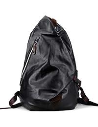 メンズタウンリュック Hombasis 本革バックパック 20L防水 隠しポケット 通勤 通学 旅行 ブラック