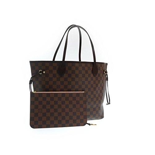 (ルイヴィトン) LOUIS VUITTON ダミエ ライン 新型 ネヴァーフルMM『N41603』ポーチ付 ローズ・バレリーヌトートバッグ/ショルダーバッグ レディース 鞄