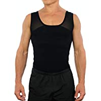 Esteem Apparel Original Men's Chest Compression Shirt to Hide Gynecomastia Moobs