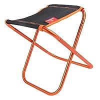 F Fityle 折りたたみ椅子 ピクニック バーベキュー 釣りチェア 汎用 ポータブル 使用便利  全2色 - オレンジ