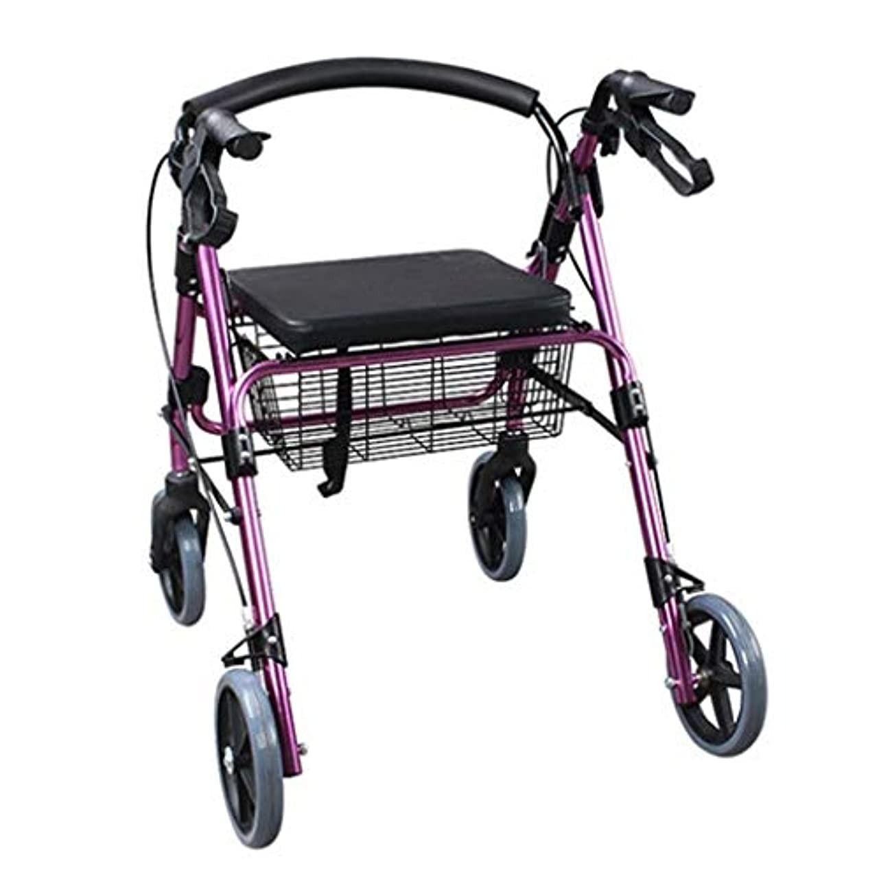 衣類それら含意折り畳み式の携帯用歩行器の補助歩行者の4つの車輪のショッピングカートのハンドブレーキが付いている頑丈な歩行者