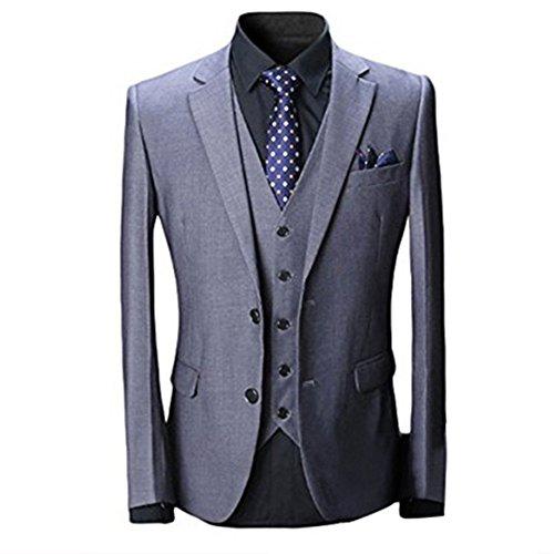 Wolfmen スーツ スリーピース メンズ 2つボタン 多色 スリム 結婚式