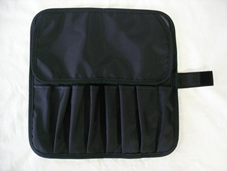 ピクニックをするジョットディボンドン原因日本製 メイクブラシケース8ポケット付 ブラック