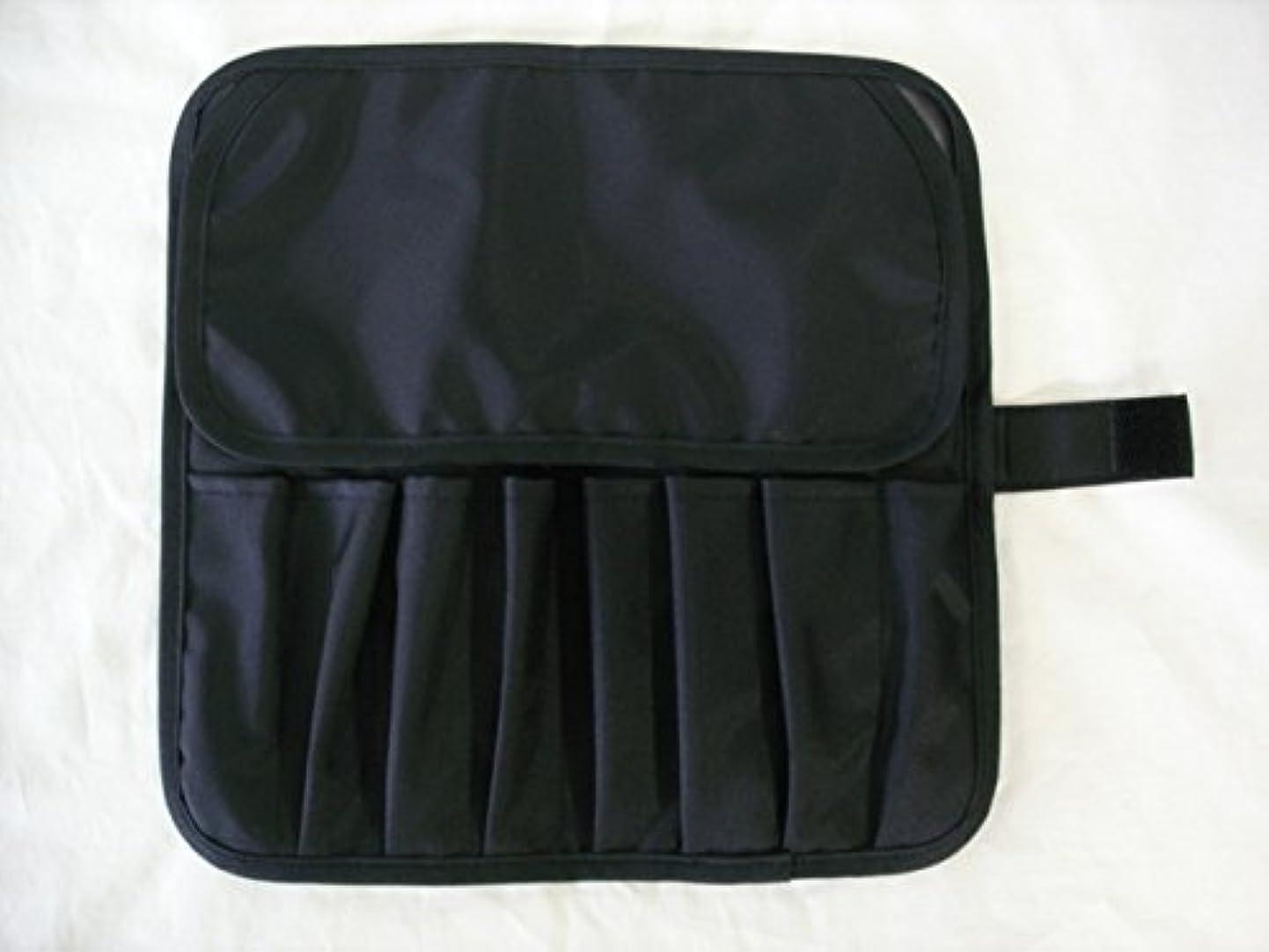 脈拍引数先生日本製 メイクブラシケース8ポケット付 ブラック