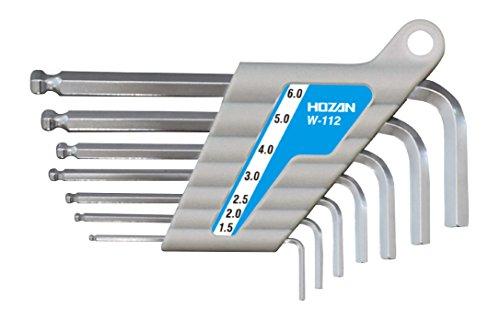 ホーザン(HOZAN) ボールポイントレンチセット 全長ショートタイプ 7本セット W-112