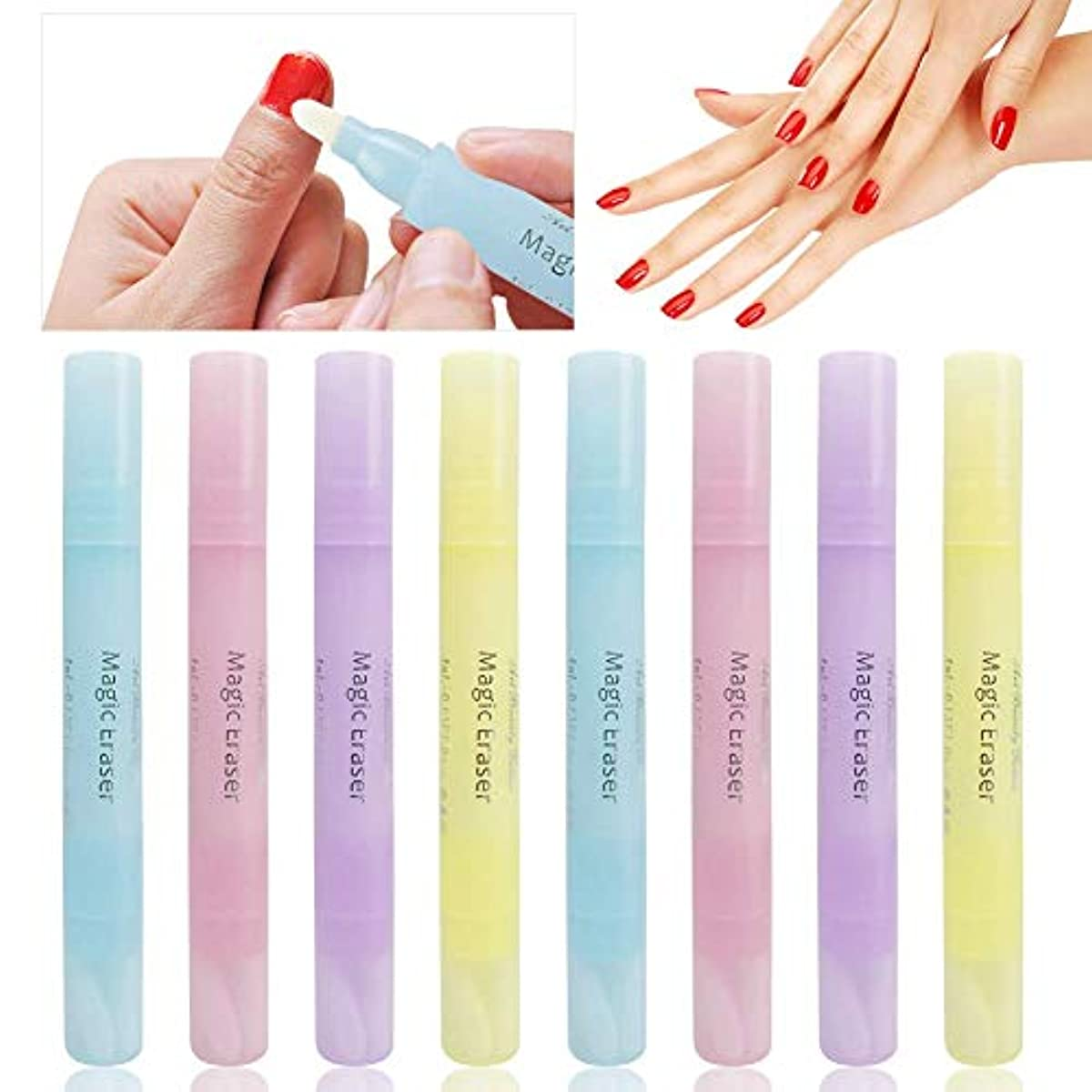 の面ではどうやら松の木AUGOOG 8個入 ネイルリムーバーペン ネイルポリッシュ修正ペン 携帯便利 ネイルアートツール ネイルコレクター 化粧用 4色 女性用