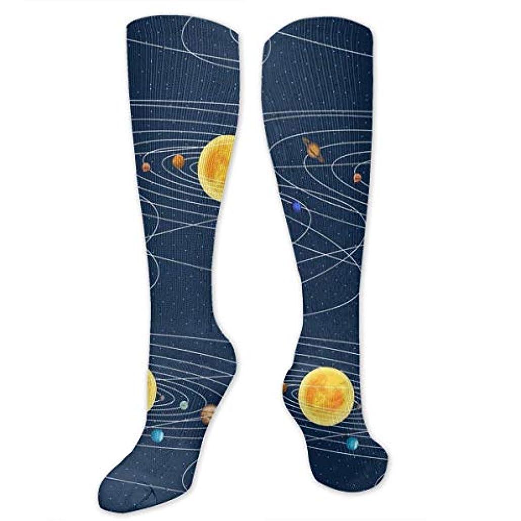 エチケット雑多な粘性の靴下,ストッキング,野生のジョーカー,実際,秋の本質,冬必須,サマーウェア&RBXAA Solar System Socks Women's Winter Cotton Long Tube Socks Knee High...