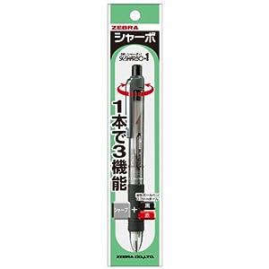 ゼブラ 多機能ペン 2色+シャープ SKシャーボ+1 透明 P-SB5-C