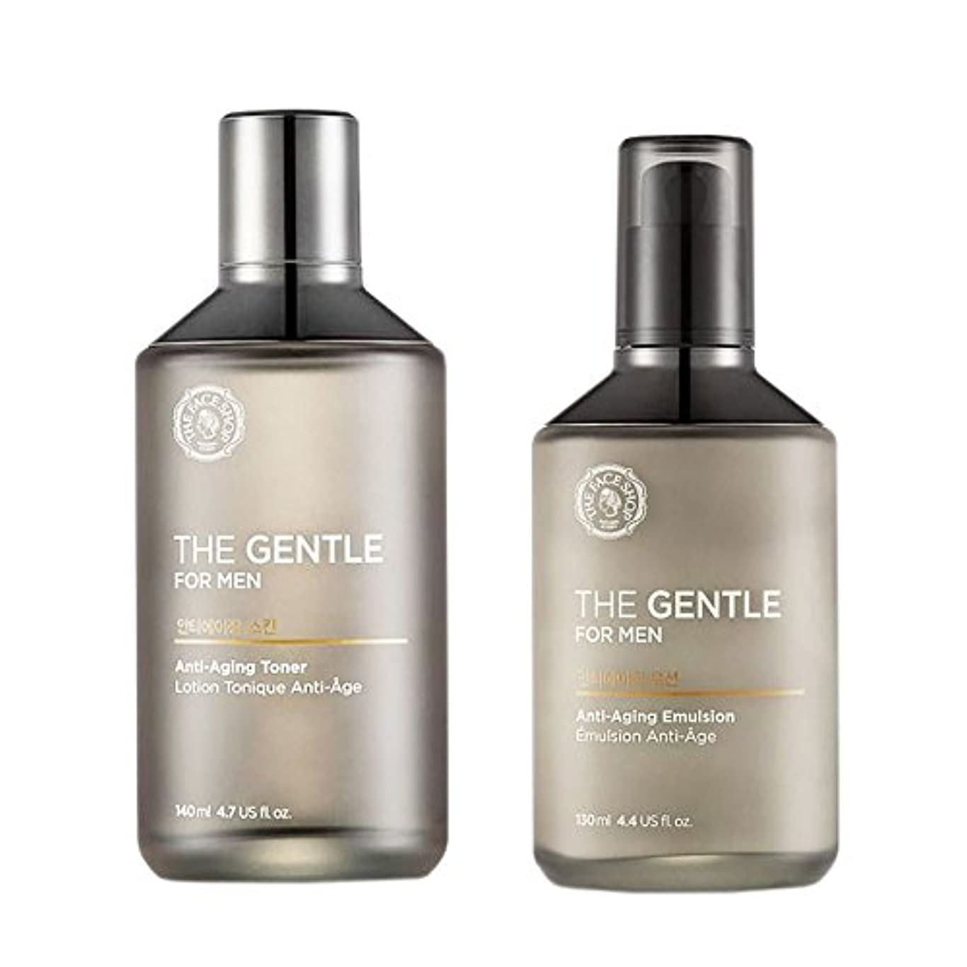 なんでも今晩食い違い[ザ·フェイスショップ]The Face Shop ジェントルメンズセット(ローション+トナー) The Gentle For Men Skincare Set(Emulsion+Toner) [海外直送品]