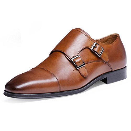 (デザート)Dessert ビジネスシューズ 紳士靴 メンズ 本革 モンクストラップ ブラウン 26CM
