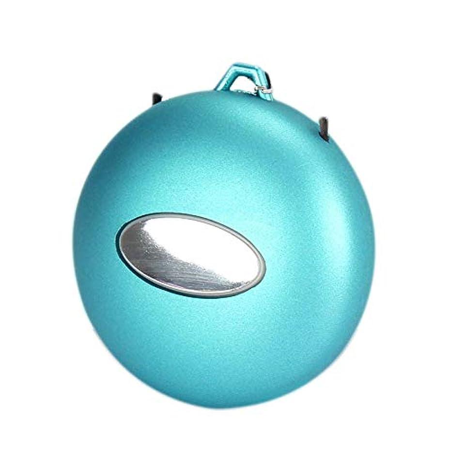 揮発性挨拶する送信する空気清浄機ハンギングネック空気清浄機マイナスイオンミニポータブルネックレス清浄機ヘイズホルムアルデヒドを削除するには-青い