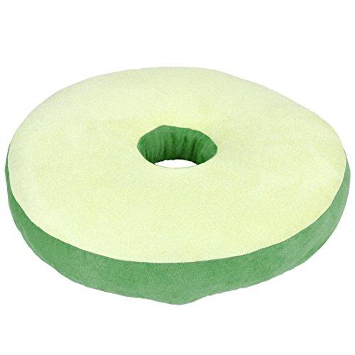 低反発ウレタン使用 もっちりドーナツ型クッション 「モルビド円座クッション」 2個セット グリーン色