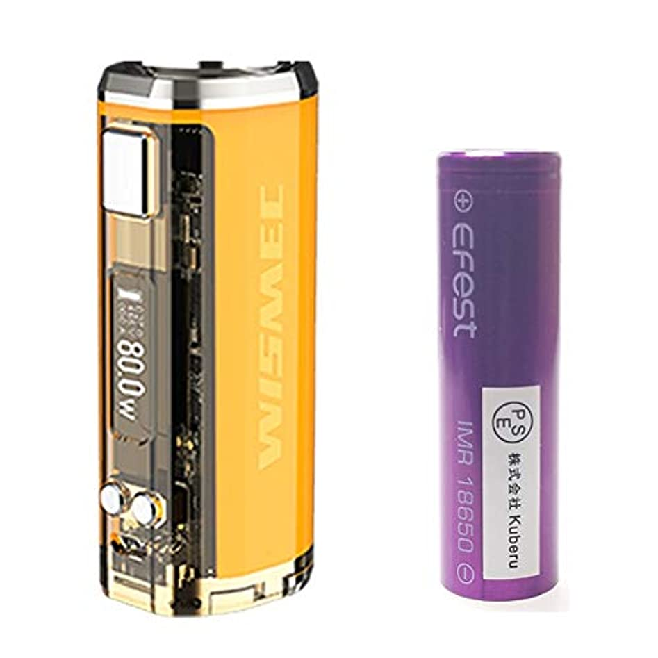破裂締める交通【正規輸入品】WISMEC SINUOUS V80 80W TC MOD +EFEST 18650バッテリー PSE認証取得 セット (Yellow)